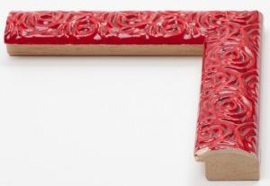 Cornice in legno su misura con rose decorate - Vendita cornici in stile moderno e di design