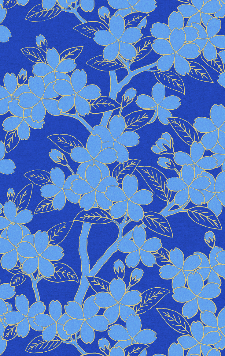 littlegreene papier peint camellia collection blue. Black Bedroom Furniture Sets. Home Design Ideas