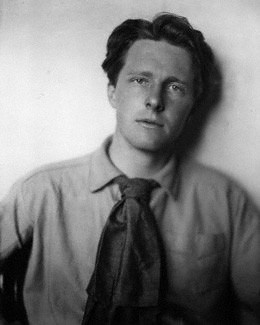 Rupert Brooke, the war poet who died of a mosquito bite before seeing active service.