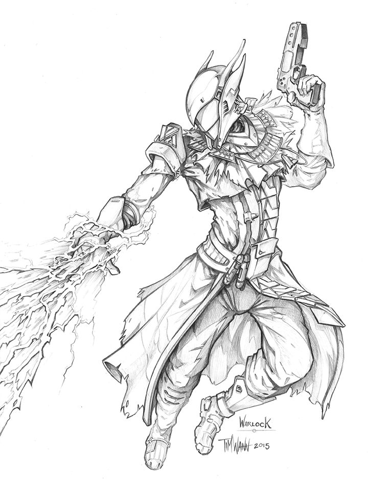destiny characters hunter coloring pages - photo#33