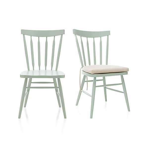 Willa Mint Side Chair and Cushion - Windsor style all throughout the Youngstown catalog...