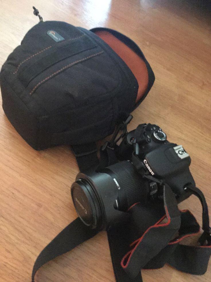 $350.000 - Camara Reflex Canon EOS T3i, lente Canon 18-135mm, filtro UV, parasol, 3 baterias, 2 cargadores, bolso LowePro, control remoto