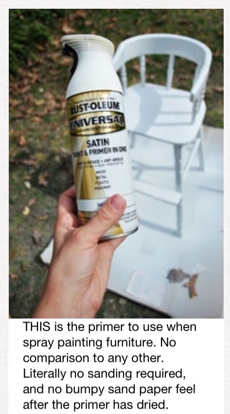 The best primer? This flat Rustoleum paint and primer in one. You can do a bright color right over top of it