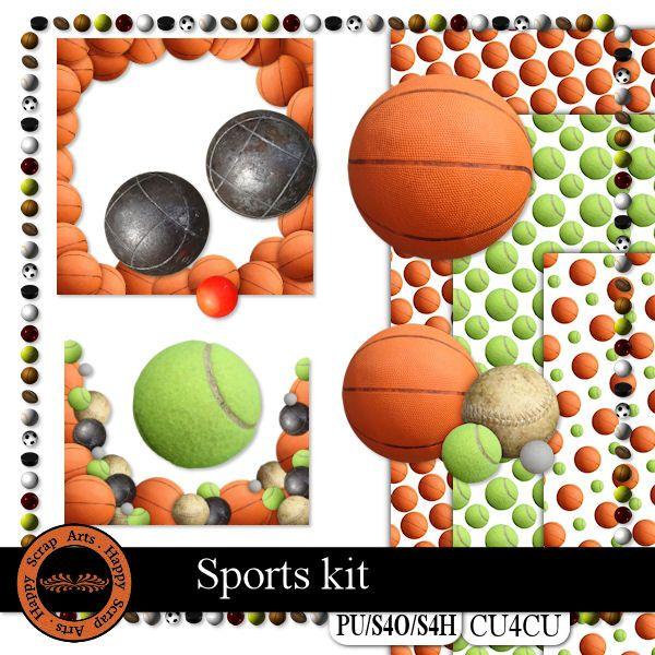 EXCLUSIVE Sport kit 1 CU4CU by Happy Scrap Art