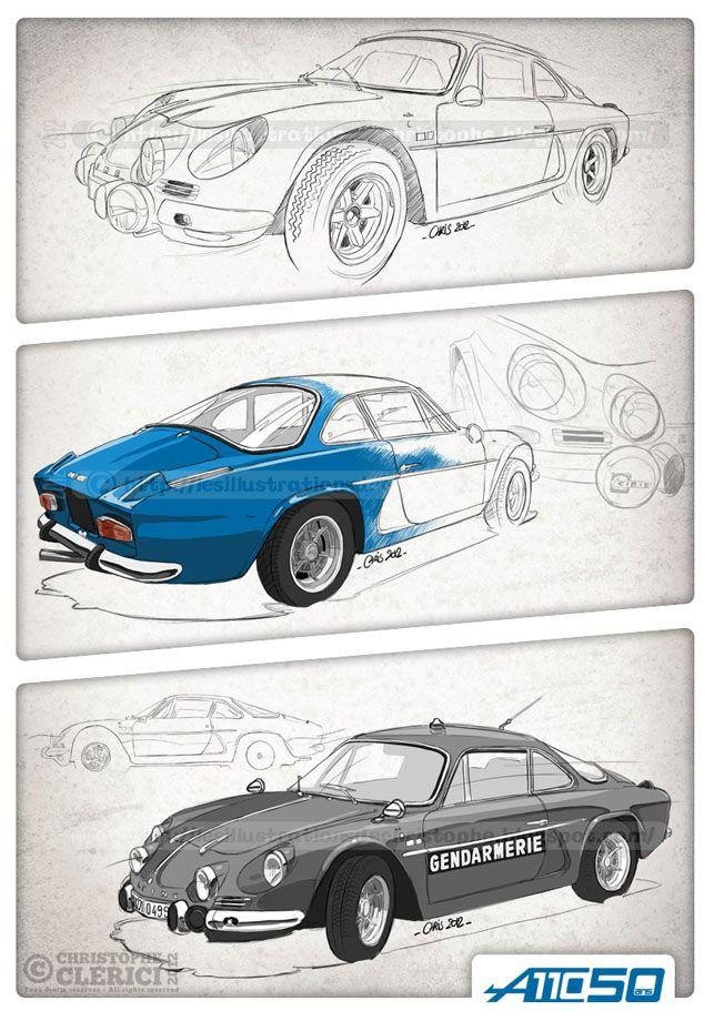 Les illustrations de christophe: La Renault A110 fête ses 50 ans !