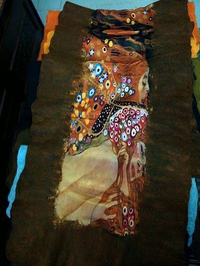 silk scarf 198 cm tall 70 cm width 100% silk fleece