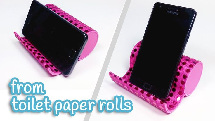 DIY crafts: PHONE HOLDER from toilet paper rolls - Innova Crafts - YouTube