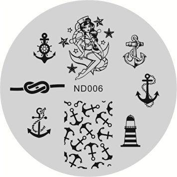 <b>NICOLE DIARY</b> Anchor <b>Nail Art</b> Stamp Template Image Stamping ...