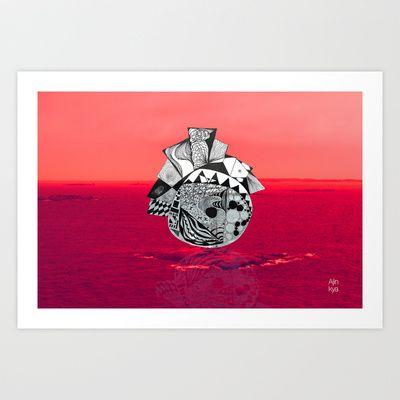 Orb in sea Art Print by Ajinkya Pawar - $18.00