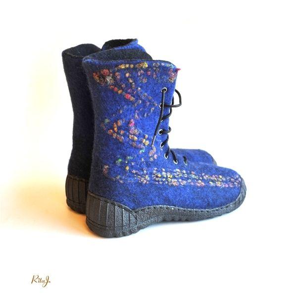 Stiefel - Filz Schuhe , merino Wolle , Größe 39 - ein Designerstück von RITAFILZ bei DaWanda