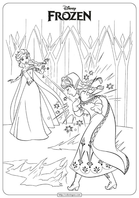Frozen Elsa And Anna Coloring Page Frozen Coloring Pages Elsa Coloring Pages Disney Coloring Pages