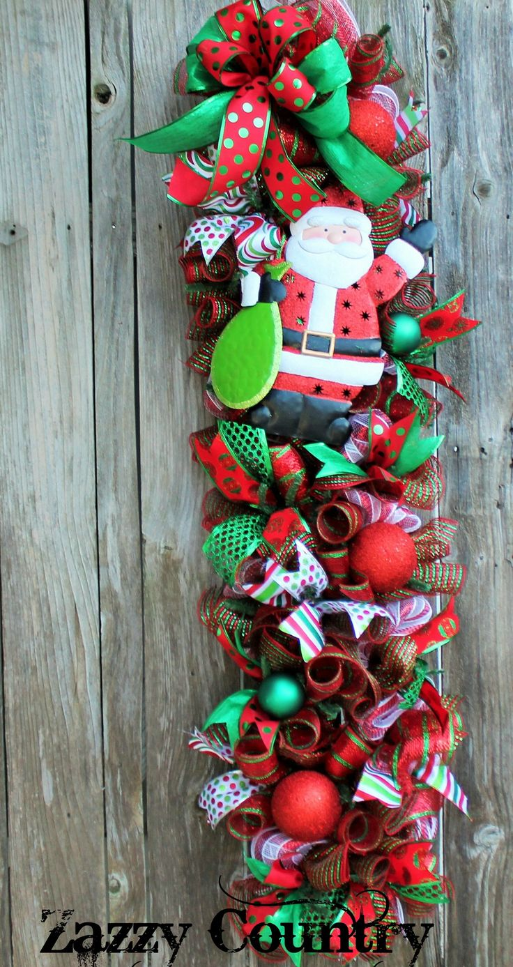 330 best images about christmas swags on pinterest for Christmas swags and garlands to make