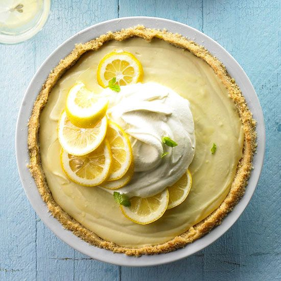 Lemon Icebox Pie by Better Homes and Gardens: Day dreaming about this lusciousness. #Pie #Lemon_Icebox #bhg: Health Desserts, Cream Pies, Pies Recipes, Summer Desserts, Lemonicebox, No Baking Pies, Lemon Icebox Pies, Pie Recipes, Better Homes And Gardens