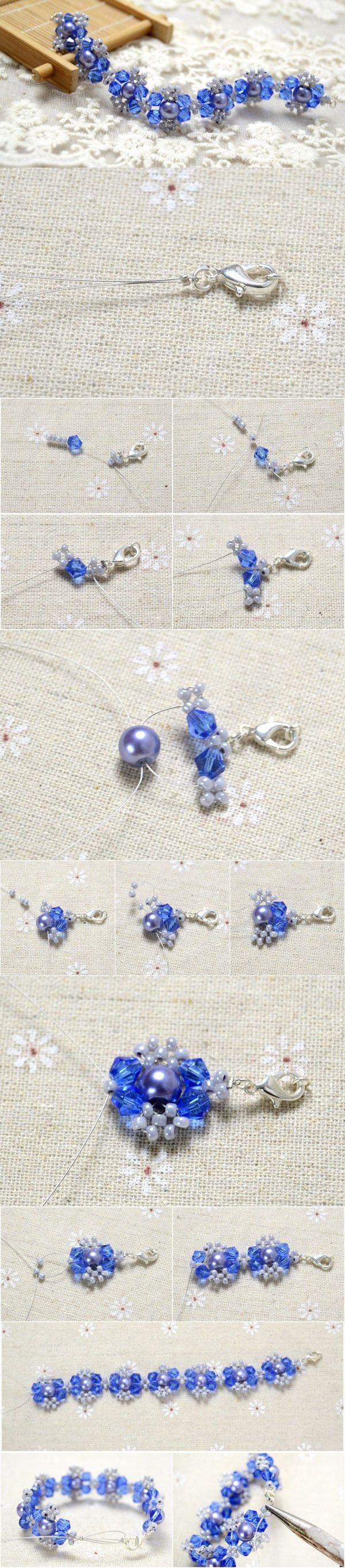 Handmade Flower Pearl Beads Bracelet DIY #bracelet #beadsbracelet #pandahall…