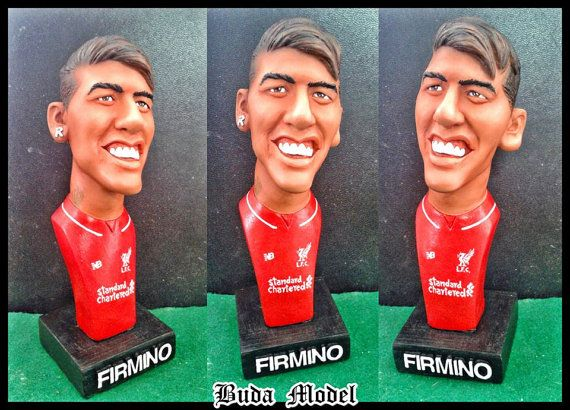 Roberto Firmino.Resin.Bust Statue Caricature by BUDAMODEL on Etsy