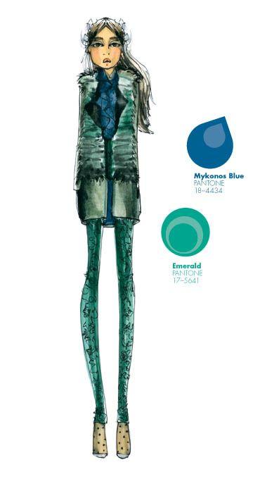 Joy Cioci - PANTONE Color Emerald - Pantone Fashion Color Report, Fall 2013