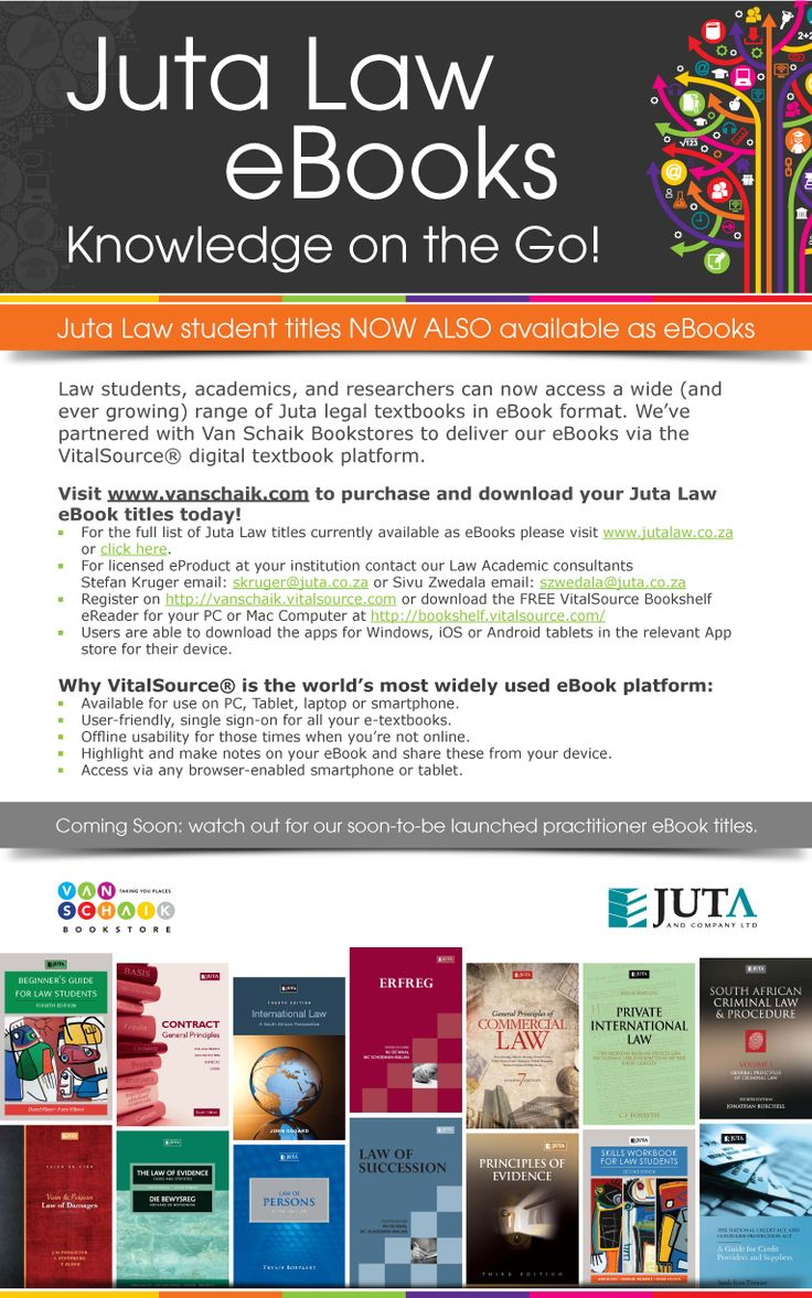 Juta Law student titles NOW ALSO available as eBooks http://jutalaw.co.za/articles/juta-law-student-titles-now-also-available-as-ebooks