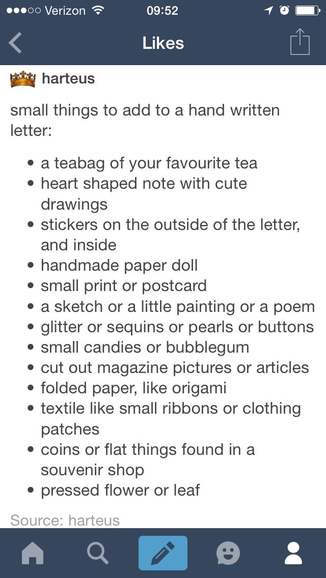 Little things to add to a handwritten letter aww