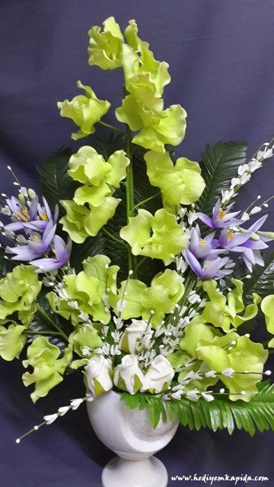 Balıkesi̇r Çiçek - Çiçekler Online - Çiçek Gönder ~ Islak Orkide Yapay Tanzim Balıkesir Çiçek