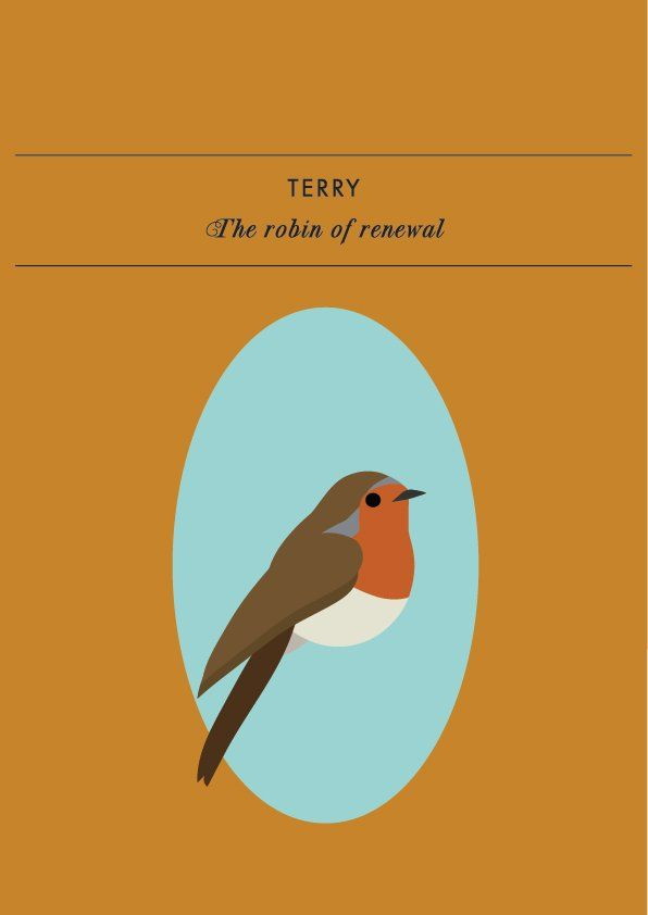 TERRY THE ROBIN OF RENEWALTerry the robin of renewal knows when it's time to move on, reinvent yourself, and start afresh. This spritely and playful spirit animal of new beginnings will rem...
