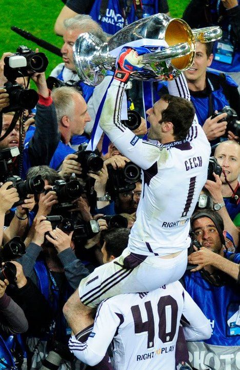Petr Cech saved 3 penalties to lead Chelsea FC to the European Cup