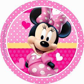 Etiqueta Redonda Minnie Mouse
