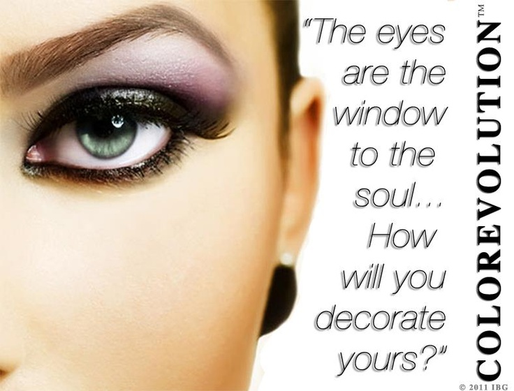 The eyes are the window to the soul.. How will you decorate yours?