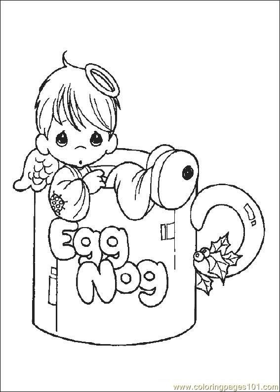 Preciousmoments 06 Coloring Page For Kids And Adults From Cartoons Pages Precious Moments