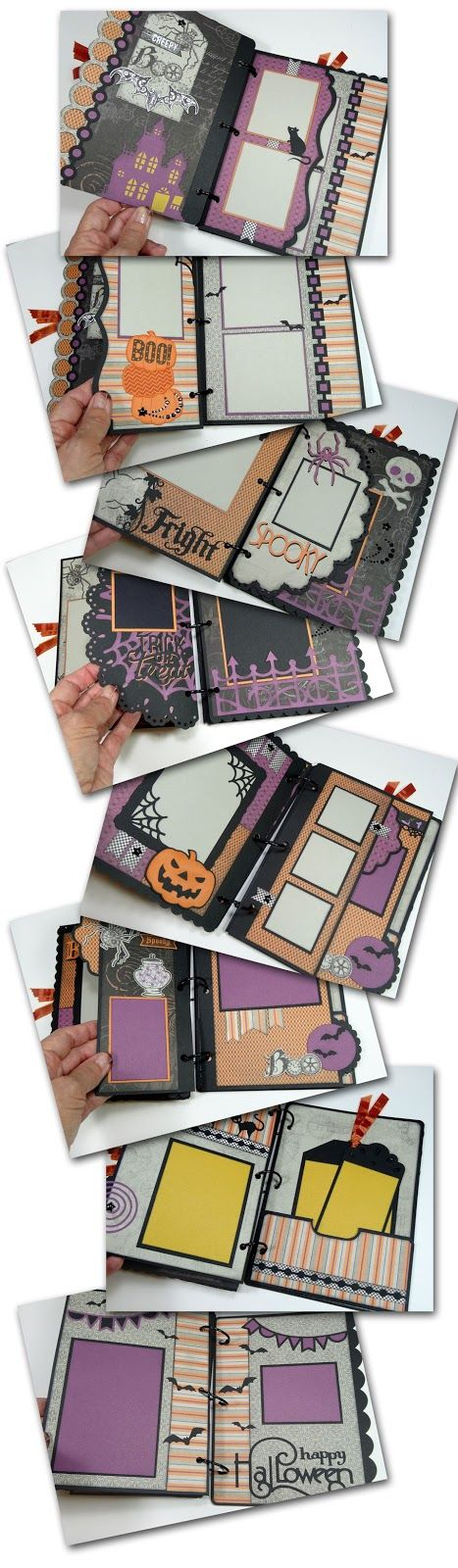 Halloween Mini Album Tutorial for this fun project using Close To My Heart's Nevermore paper pack and embellishments.
