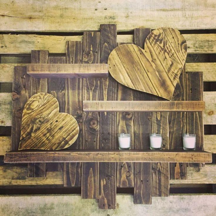 Rustic Shabby Chic Handmade Reclaimed Pallet Wood Shelf Shelving Unit Display