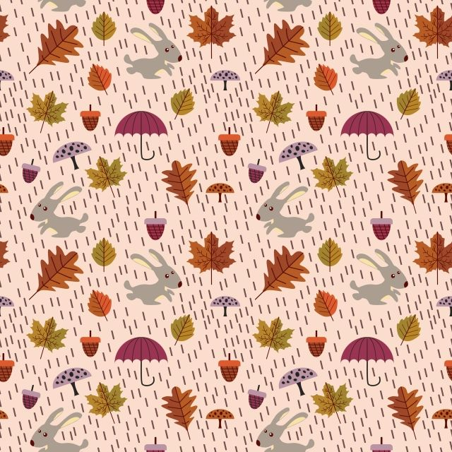 Childish Drawing Autumn Seamless Pattern Background Pattern Repeat Png And Vector With Transparent Background For Free Download Seamless Patterns Graphic Wallpaper Plant Drawing