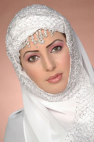 Bridal hijab and makeup by white_hearted84, via Flickr