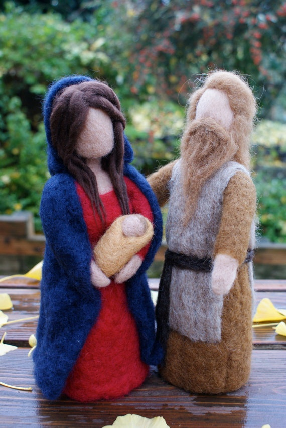 Hand Felted Nativity Dolls by NaliiOnEtsy on Etsy, $190.00
