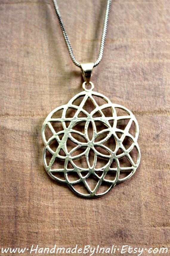 Shanti Sacred geometry FLOWER OF LIFE symbol by handmadebyinali, $25.00