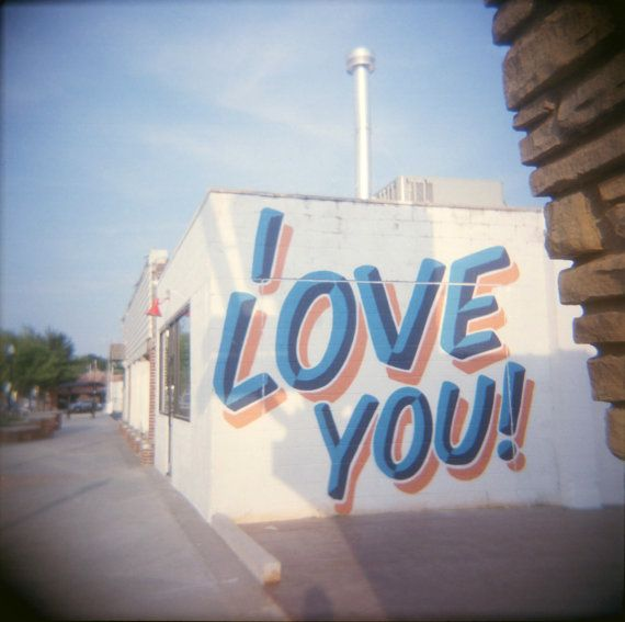 I Love You mural Plaza District Oklahoma City Loose Fine Art Photographic Print…