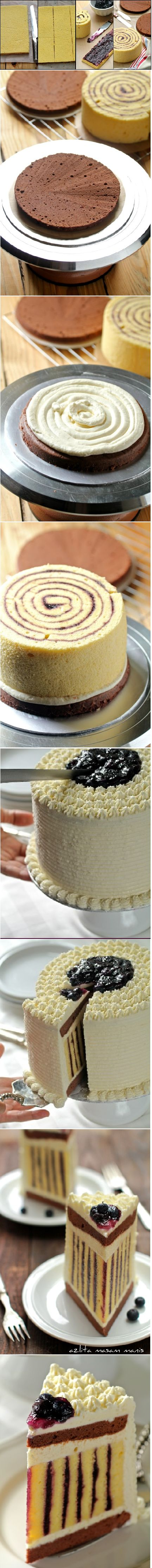 How To Make A Striped Cake