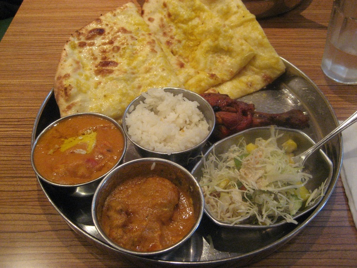 Indian Curry with nan-bread and tandori chicken from Ganesh in Iwakuni, Japan... I love this place.