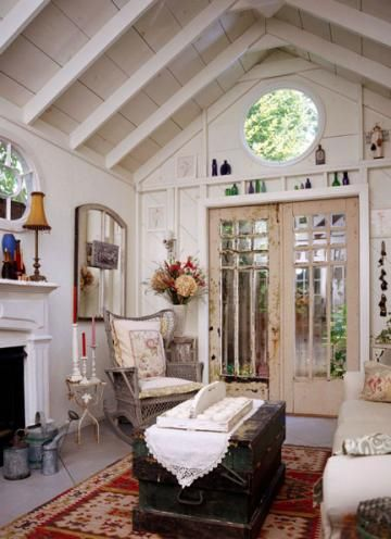 20 inspiring she sheds living the country life fireplace yes yard ideas. Black Bedroom Furniture Sets. Home Design Ideas