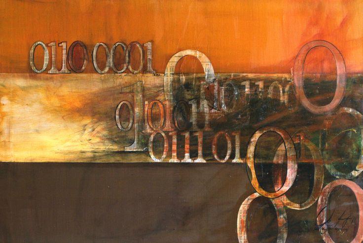 "'alku - the beginning' by Veera Pfaffli | $250 | 36""w x 24""h | Original Art | http://www.arttwo50.com/buy/art/alku-the-beginning"