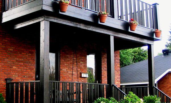 rénovation extérieure, construction de balcon