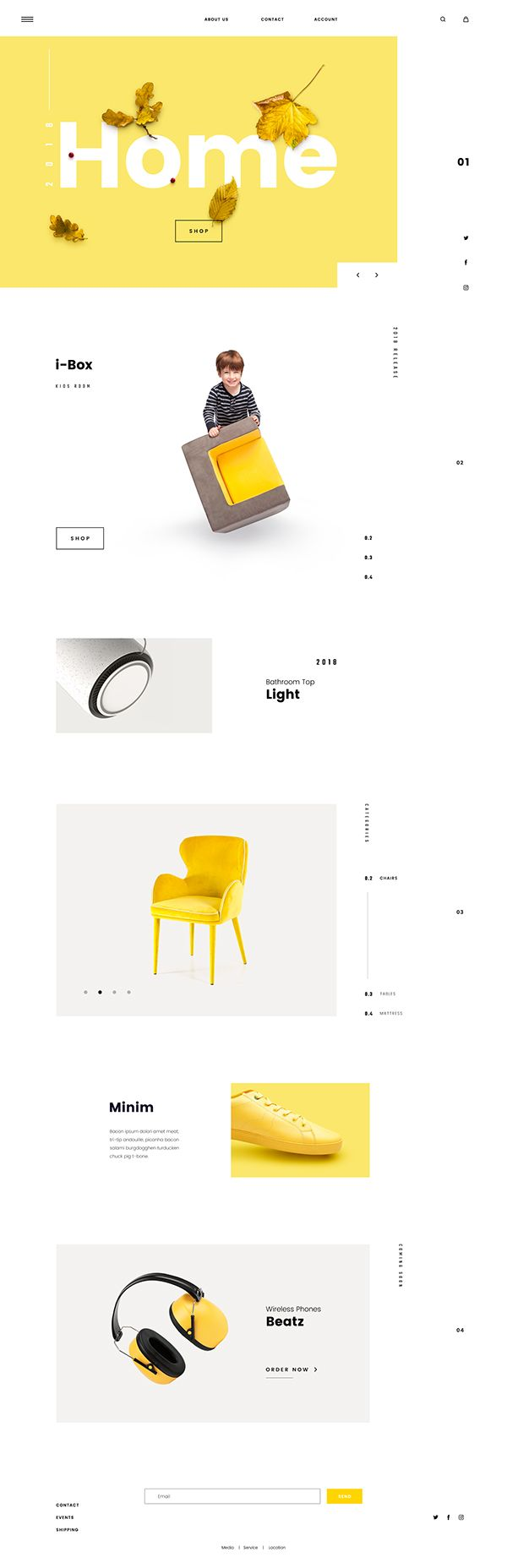 Minimalistic UI coupled with Scandinavian Design for E-commerce website