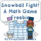 Snowball Fight! A Winter Math Game Freebie  This is a 2 player game.  Each player takes a game board (a snow fort).  1, 2, or 3 dice are needed for...
