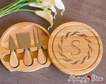 Cheese Board Set, Cheese Board, Cutting Board, Wedding Gift,  Housewarming Gift, Personalized Gift, Wedding, Personalized, Engraved, Custom