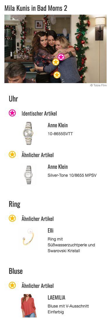 Na, wer erkennt diese Uhr die Amy Mitchell (Mila Kunis) auf diesem Szenenbild trägt? Kleiner Tipp: Wer bereits den ersten Teil von Bad Moms gesehen hat müsste diese Frage auf jeden Fall beantworten können. Auch hier hat die junge Mutter nämlich genau dieses Schmuckstück von Anne Klein getragen - damals allerdings noch zum Designeranzug und schwindelerregend hohen Pumps. Damit ist seit dem ersten Teil der Reihe allerdings Schluss. Die Uhr sieht aber auch zu legeren Styles super aus und macht…