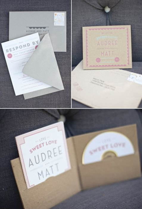 Love this wedding invitation! Music themed weddings for the win!