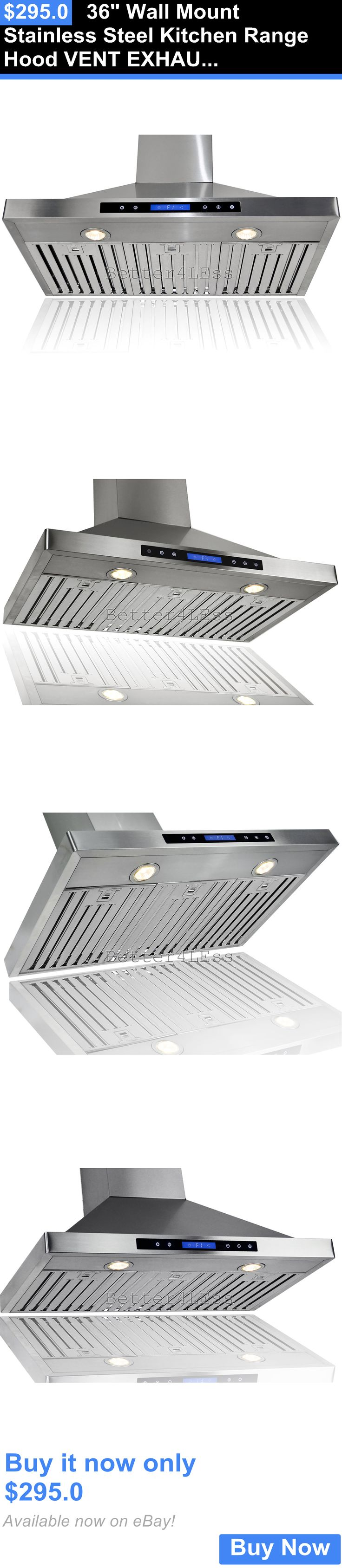 Major Appliances: 36 Wall Mount Stainless Steel Kitchen Range Hood Vent  Exhaust Fan BUY IT