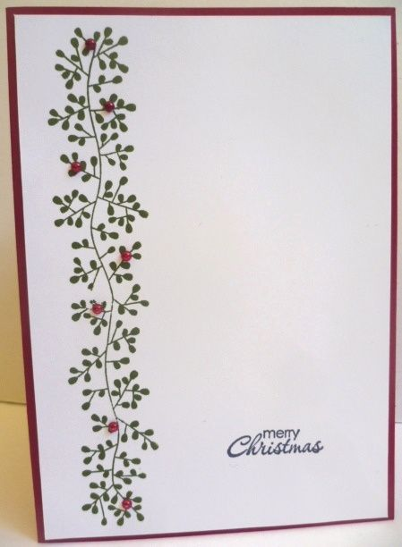 A Christmas card using Bordering Blooms. See it on my blog at http://astampingjourney.wordpress.com/2014/08/18/bordering-blooms/