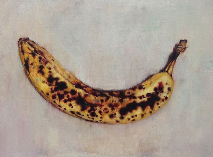 "Kumiko Otomo ""banana in the hell"" 2013 oil on canvas 39.0×31.8cm #painting #art #contemporary"