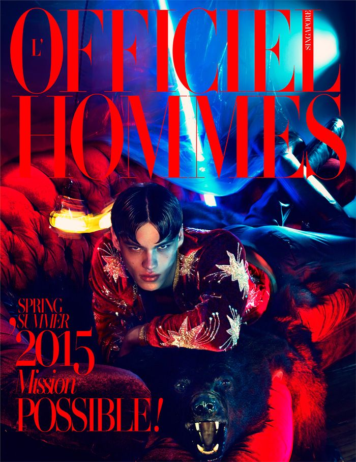 L'Officiel Hommes Singapore Cover Boy Filip Hrivnak's light continues to shine bright as a model. In addition to appearing in two editorials for Vogue Hommes Paris, which can be seen below, Filip snags the spring-summer 2015 cover of L'Officiel Hommes Singapore. Conveying an image of opulence, Filip is shot by photographers ChaunDo & Frey. Wearing Saint Laurent, Filip is outfitted by stylist Paul Stura.  Filip Hrivnak for Vogue ...