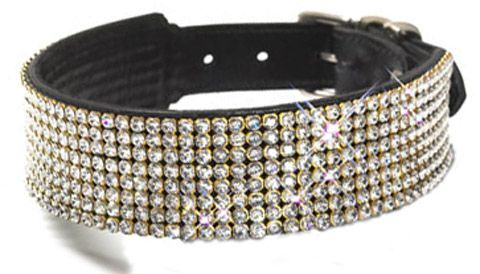 Pampered Dog Collars with Bling #dog collars #dog collars with bling